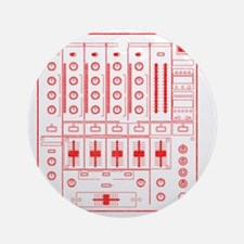 mixer-lrg-red-worn Round Ornament