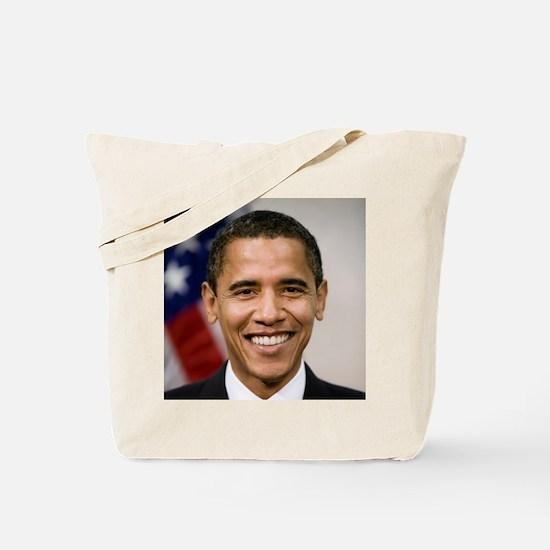 smiling_portrait_of_Barack_Obama-close-up Tote Bag