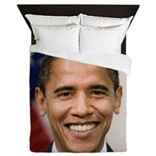 smiling_portrait_of_Barack_Obama-close Queen Duvet