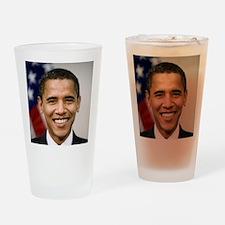 smiling_portrait_of_Barack_Obama-cl Drinking Glass