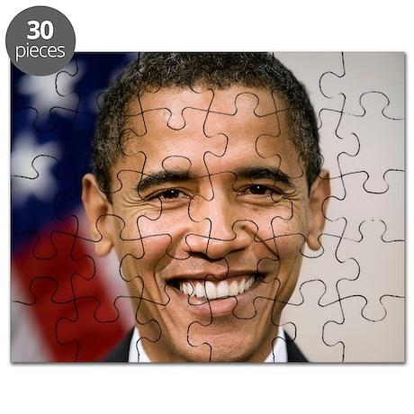 smiling_portrait_of_Barack_Obama-close-up Puzzle