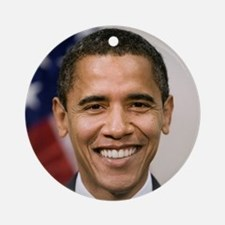 smiling_portrait_of_Barack_Obama-cl Round Ornament