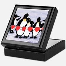 Penguin Heartstring Keepsake Box