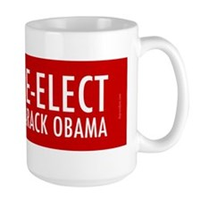 reelect-bumper-face-blue Mug