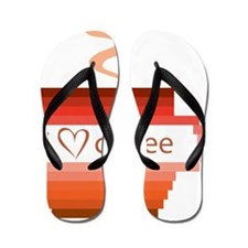 I-love-coffee Flip Flops