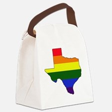 Texas Rainbow Colors With Outline Canvas Lunch Bag