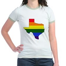 Texas Rainbow Colors With Outli T