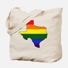 Texas Rainbow Colors With Outline Tote Bag