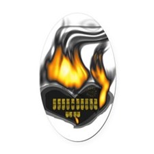 csr_fire Oval Car Magnet