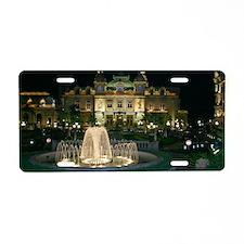 Monte Carlo Casino at Night Aluminum License Plate