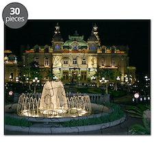 Monte Carlo Casino at Night Puzzle