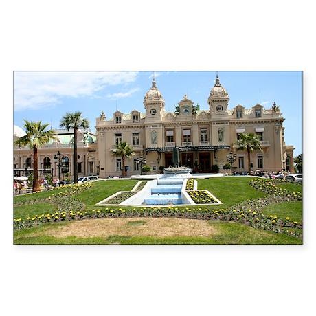 Monte Carlo Casino Sticker (Rectangle)