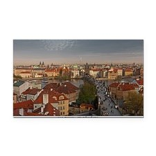 Prague - Charles Bridge and O Rectangle Car Magnet