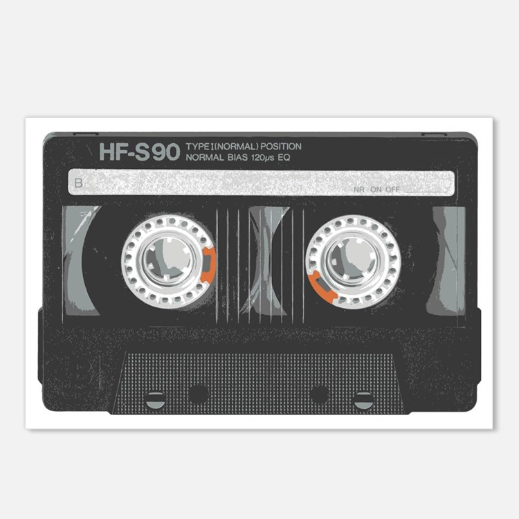 mix tape cassette Postcards (Package of 8)