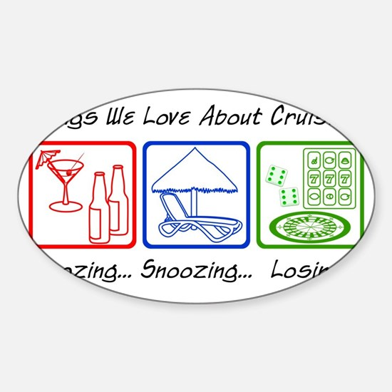 ThingsWeLoveAboutCruising Sticker (Oval)