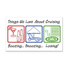 ThingsWeLoveAboutCruising Rectangle Car Magnet