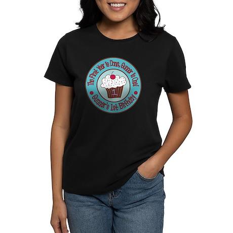 Gunnars-1st-Birthday_Teal-and Women's Dark T-Shirt