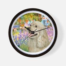 J-ORN-Garden-Cocker-buff2 Wall Clock