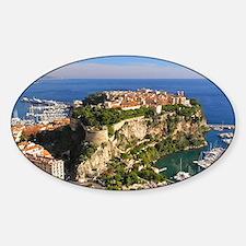 Monaco Castle Sticker (Oval)