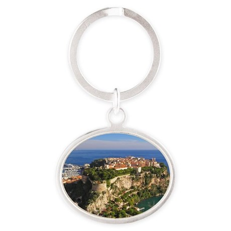 Monaco Castle Oval Keychain