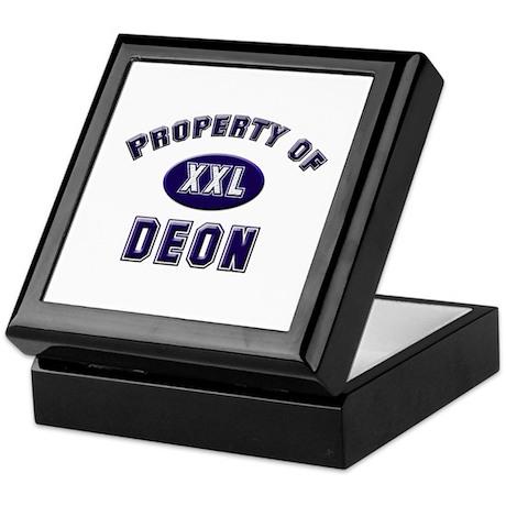 Property of deon Keepsake Box