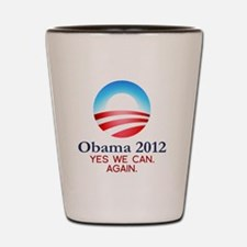 obama-yes-we-can-again-white Shot Glass