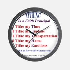 LVT-tithingshirtBack Wall Clock