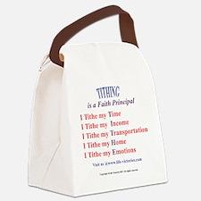 LVT-tithingshirtBack Canvas Lunch Bag