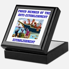 ANTI-ESTABLISHMENT TEA PARTY Keepsake Box