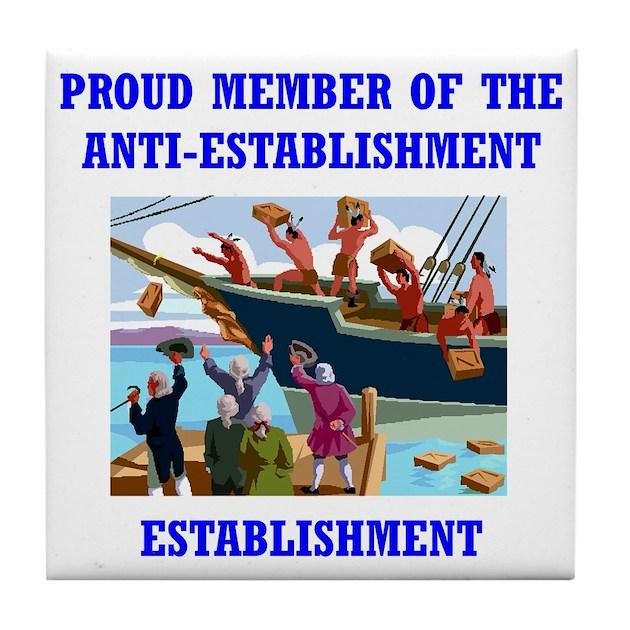 Anti Establishment Tea Party Tile Coaster By Admin Cp3994355