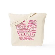 V is for Vagina Pink Tote Bag
