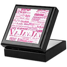 V is for Vagina Pink Keepsake Box