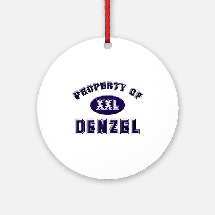 Property of denzel Ornament (Round)