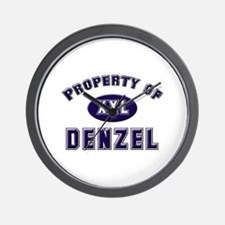 Property of denzel Wall Clock