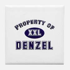 Property of denzel Tile Coaster