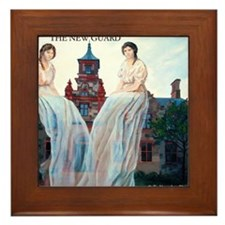 Jane and Izzy Model School by Kendra D Framed Tile