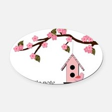 birdhouse2 Oval Car Magnet