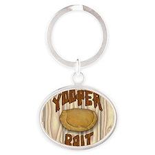 YoopBaitRnd Oval Keychain