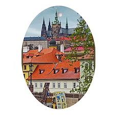 Prague - St Vitus and Prague Castle Oval Ornament