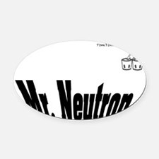 Mr. Neutron - TomTomTees Oval Car Magnet