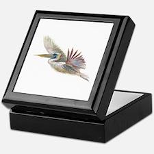 pelican in flight Keepsake Box