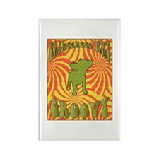 Groovy Chihuahua Rectangle Magnet (100 pack)