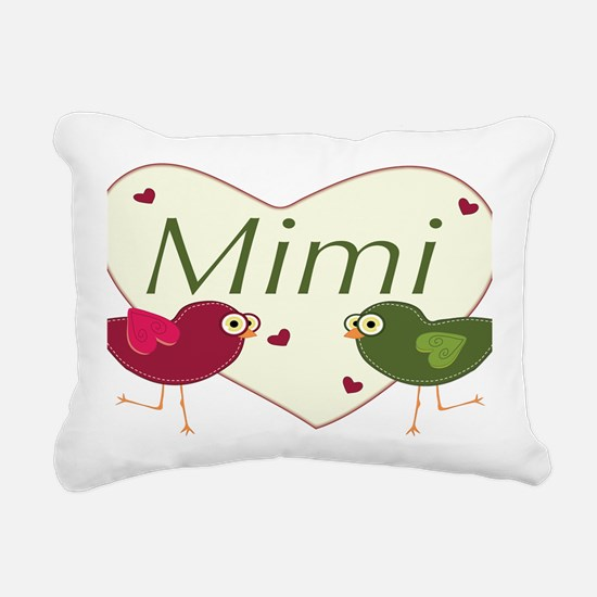 mimilovebirds Rectangular Canvas Pillow