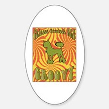 Groovy Crested Oval Decal