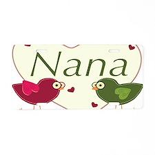 nanalovebirds Aluminum License Plate