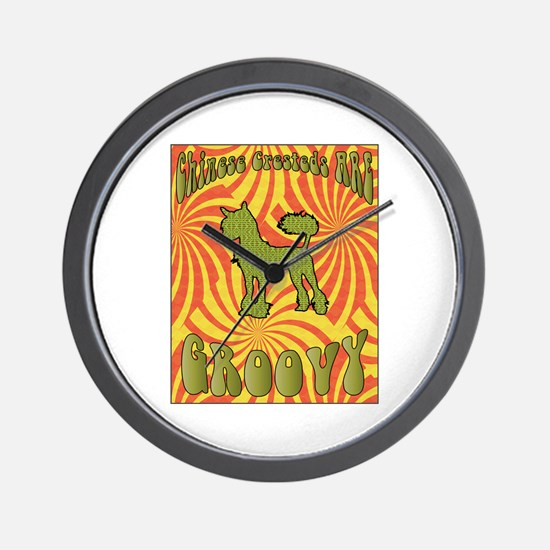 Groovy Crested Wall Clock
