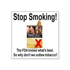 "stopsmoking_outlaw_tobacco0 Square Sticker 3"" x 3"""