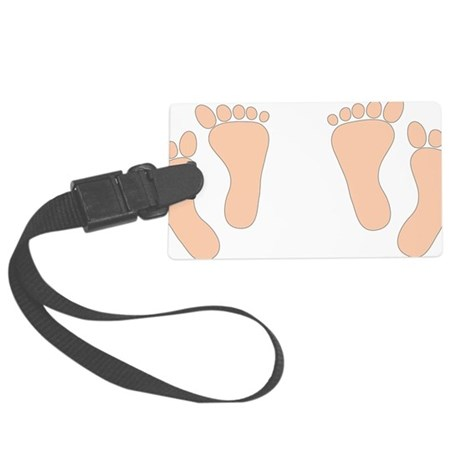 PINKTWINFEET Large Luggage Tag