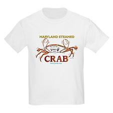 Maryland Steamed Crab Kids T-Shirt