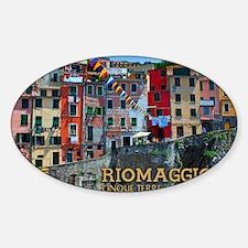 Riomaggiore Waterfront Sticker (Oval)